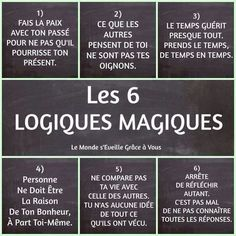 Quotes and inspiration QUOTATION - Image : As the quote says - Description les 6 logiques magiques - Atmosphère Citation Sharing is love, sharing is everything Positive Mind, Positive Attitude, Positive Thoughts, Positive Quotes, Quote Citation, French Quotes, Some Words, Positive Affirmations, Paranormal