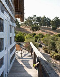 Charmante maison de vacances version cabane, Comporta, Portugal : Admirer les couchers de soleil sur ce balcon