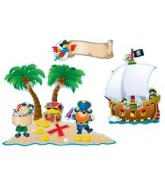 Ensemble de décorations - Pirates
