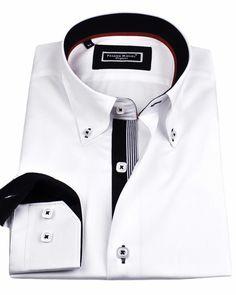 Men's French shirts - Eiffel White | UrUNIQUE.com