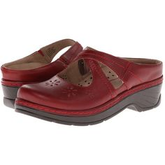 Carolina shatters the notion that everyday work clogs are clunky and plain. Upper is constructed of full-grain leather for a lasting appearance. Cute floral cu…