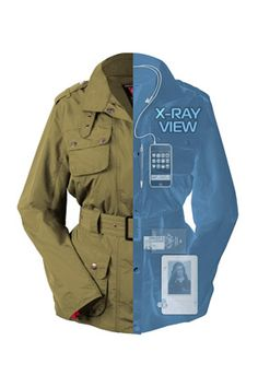 The Hold-Everything Jacket Besides having pockets for your Kindle and cell phone, it's wired so that you can control your gadgets without taking them out. #travel #jacket