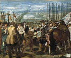 Diego Velázquez - La rendición de Breda o Las lanzas (1634-1635).  Barroco. Óleo sobre lienzo de 307 x 367cm. Museo Nacional del Prado (Madrid), España