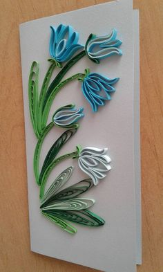 Quilling card. Greeting card. Handmade Quilled Card. 3d