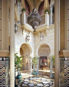 Stunning luxury interior design ideas from modern boutique hotels. Lobby, bedroom, stairways and entryways, a room by room guide to finding inspiration with the best interior architecture from world renowned hotels. Moroccan Design, Moroccan Decor, Moroccan Style, Moroccan Bedroom, Moroccan Lanterns, Moroccan Chandelier, Patio Interior, Interior And Exterior, Luxury Interior