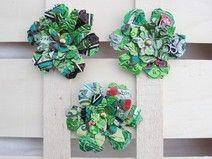MärzBlatt : 3 Magnete : Blumen aus Getränkedosen