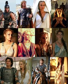 The imperial dress of all but the one at the top left. Achilles isn't royal in this film, though in the Iliad I believe he's king of the Myrmidons.