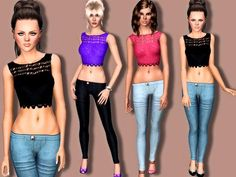 crop top- http://www.thesimsresource.com/artists/Margeh-75/downloads/details/category/sims3-clothing-female/title/spring-fashion/id/1231089/