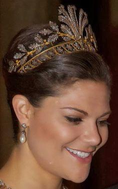 Tiara Mania: Cut Steel Tiara worn by Crown Princess Victoria of Sweden