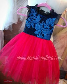 "Our elegant couture ""Ivy"" flower girl dress, blue sequins applique, red/black Straight tulle skirt, special occasion, christmas Ivy Flower, Red Tulle Skirt, Sequin Appliques, Fairy Dress, Sequin Fabric, Custom Dresses, Birthday Dresses, Stunning Dresses, Couture Dresses"