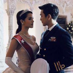 "Nadechyaya for ""likit ruk the crown princess"" Crown Aesthetic, Princess Aesthetic, Thai Wedding Dress, Wedding Dresses, Thai Princess, Thai Drama, Young Fashion, Actor Model, The Crown"