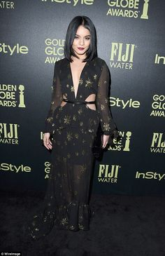 Fashionista: Vanessa Hudgens reiterated her quirky sense of style when she stepped out at the InStyle Celebration of The 2016 Golden Globe Awards Season at West Hollywood's Ysabel bar on Tuesday evening