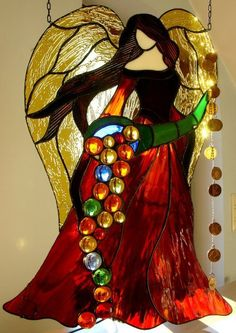Stained Glass Angle. ACFilters4Less.com #StainedGlassChristmas