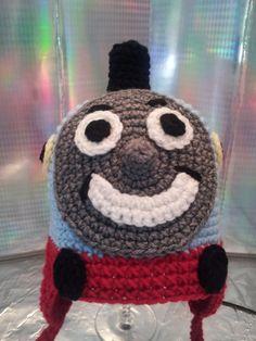 Kids Tank Engine Hat Hand Made Crochet Toddler Hat via Etsy