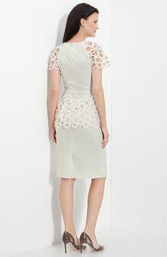 Lela Rose Circle Lace Trim Dress | Nordstrom