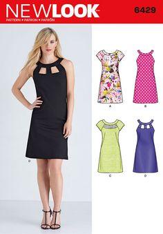 Vintage Sewing Patterns New Look 6429 Misses' Dresses sewing pattern - Summer Dress Patterns, Dress Making Patterns, Vintage Sewing Patterns, Clothing Patterns, Fabric Patterns, Sewing Clothes, Diy Clothes, Robe Diy, New Look Patterns