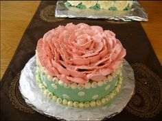 "Roses are pink - 6"" cake-to-share for Birthday. Black chocolate cake sandwiching rich chocolate ganache and french buttercream. All piping/icing done with french buttercream."