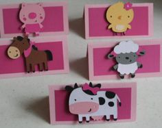 24 niña granja Animal Cupcake Toppers granja por AngiesDesignz