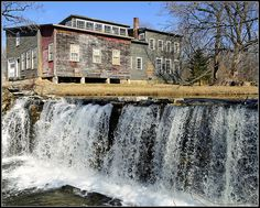 We could check this out-----House Above Neshobe Falls by Tony Fischer Photography, via Flickr Brandon, VT