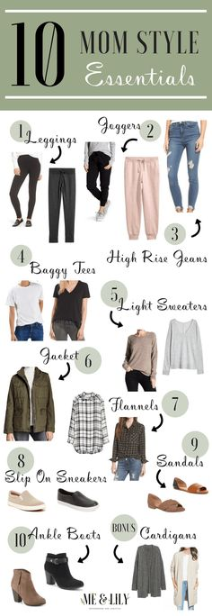 Learn the 10 mom style essentials every mama should have to make getting dressed in the morning a quick and easy process! The 10 mom style clothing items will are casual, comfy, and cute! 47 Chic And Cute Winter Style Casual Outfit Ideas For Moms Mom Style Fall, Casual Mom Style, Casual Outfits For Moms, Mommy Style, Simple Outfits, Cool Mom Style, Fall Outfits, Capsule Wardrobe Essentials, Style Essentials