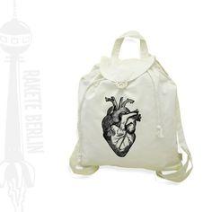 Rucksäcke - Jute-Rucksack 'anatomisches Herz' - ein Designerstück von RaketeBerlin bei DaWanda
