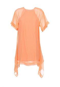 Платье BCBGMAXAZRIA женское. Цвет: оранжевый. Сезон: Весна-лето 2014. С бесплатной доставкой и примеркой на Lamoda. http://j.mp/1znxusZ