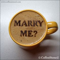 Marriage proposal by latte art..#marriage #proposal original link: http://latteart.tumblr.com/page/2