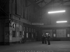 Old Railway Station @ Queen's Quay. Station - interior - 1976.