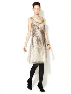 Scoop Neck Embellished Dress by Carolina Herrera at Gilt
