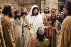 Jesus healing blind.