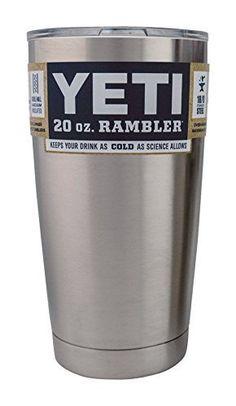 NEW! YETI Rambler Tumbler w/Lid 20 oz…