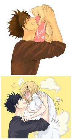 Image about love in Haikyuu! Kuroo Haikyuu, Haikyuu Fanart, Haikyuu Anime, Kuroo Tetsurou, Manga Anime, Anime Couples Manga, Anime Guys, Cute Anime Coupes, Manga Cute