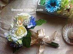 Wedding bouquet, bridal brooch bouquet, silk flower bouquet, brooches, bride, bridal bouquet,posy,wedding on Etsy, £45.69