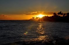 Another beautiful sunset from our oceanfront lawn, here at The Beach House on Kauai!