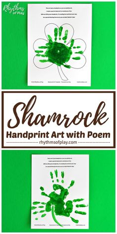 Shamrock Handprint Art with Poem! It