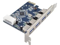 Aitek USB 3.0 to PCI-E Card with 4 USB 3.0 Ports and 4-Pin Power Connector for Desktops by Aitek. $20.99. FeaturesIntroduction:With quick and easy installation, this USB 3.0 to PCI express Card offers a simple solution for connecting to and using USB 3.0 devices on your standard desktop PC. USB 3.0 is the latest generation of USB technology, boasting enhanced transfer rates of up to 5 Gbps, which means you can copy videos, music, photos, data files between USB ...