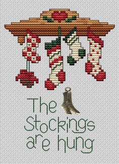 Stockings Are Hung Post Stitche cross stitch chart with charm Sue Hillis Designs Stockings Are Hung Post Stitche cross stitch chart with charm Sue Hillis Sticken Weihnachten/Winter Stockings Are Hung Post Stitche cross. Santa Cross Stitch, Cross Stitch Stocking, Counted Cross Stitch Patterns, Cross Stitch Charts, Cross Stitch Designs, Cross Stitch Embroidery, Embroidery Patterns, Hand Embroidery, Cross Designs