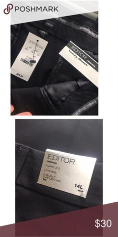 👜Express Dress Pants Brand New With Tags. The Editor Luxury Pant. Size: 14 LONG.                                                ✨Top Rated Seller ✨ 💨 Fast Shipping Times 💨 💕Quick Responses 💕 ✅ Great Items ✅ 🛍 Awesome Bundle Deals 🛍 😃Thanks For Visiting! 😃 Express Pants Boot Cut & Flare