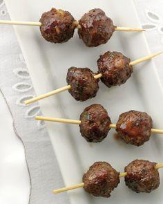 Lamb and Pistachio Meatballs - Martha Stewart Weddings Appetizers