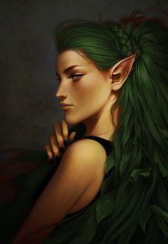 Green Hair Elf
