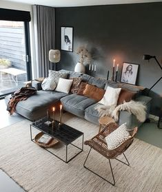 Loft Inspiration // Loft Interior The Perfect Scandinavian Style Home Home Living Room, Living Room Designs, Living Room Decor, Kitchen Living, Nordic Living Room, Living Room Inspiration, Home Decor Inspiration, Design Inspiration, Decor Ideas