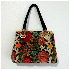 Vintage 1960s Tapestry Handbag  Boho by ShopWithVintageChick