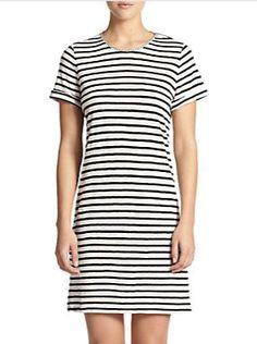 striped jersey dress / alice + olivia
