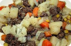 Hamburger Foil Dinner....when I was growing up this was made in the campfire on Scouting overnight trips. I use this same basic recipe with drumsticks.