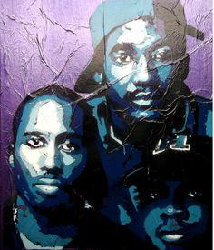 A tribe called quest Midnight Marauders, Graffiti I, A Tribe Called Quest, Street Beat, Hip Hop Art, Music Artwork, Old Skool, Album Covers, Fan Art