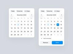 Date picker Dona app by Jakub Antalik on Dribbble