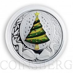 Tuvalu, 1 dollar, Merry Christmas, New Year, Silver, Coin, 2008