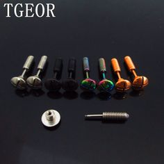 free shipping new arrival colors 40pcs 8mm surgical Stainless Steel arc screws shape ear tragus piercing fake taper