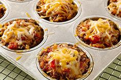 Meatloaf, meet tacos: The classic ground beef dinner favorite combines with tomato salsa and melty cheese. One of these minis has your name on it.