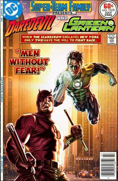 """An unlikely duo to be sure, but I think that the whole """"fearless"""" angle could make for an interesting story. Matt Murdock and Hal Jordan'..."""